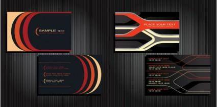 free vector Background 2 vector business cards
