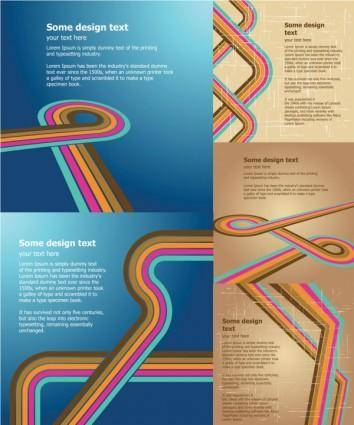 Retro background vector flow lines