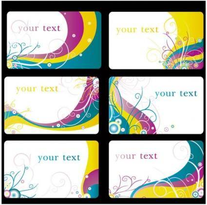 free vector Colorful card background vector