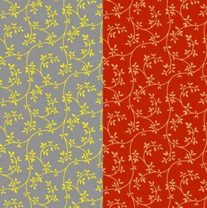 free vector 2color leaf pattern background vector