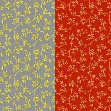 2color leaf pattern background vector