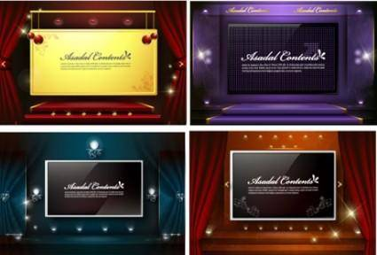 4 stage background vector