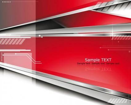 free vector Sense of dynamic technology background vector