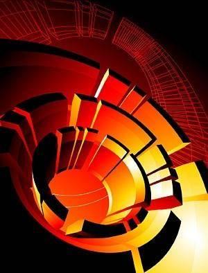 Cool 3d element vector background 3