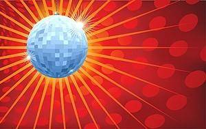 free vector Crystal ball and disco light background radiation vector