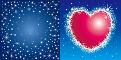 Flash and flash heartshaped vector background