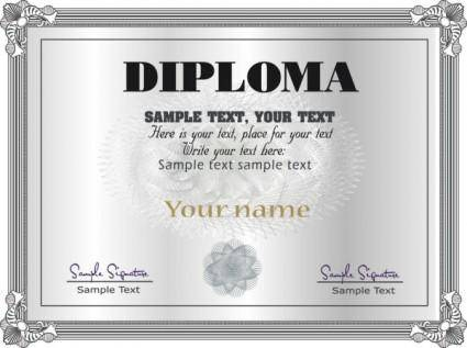 free vector Gorgeous diploma certificate template 05 vector