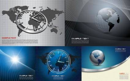 free vector 4 commercial business background vector