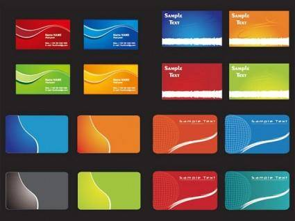 free vector Practical card template vector 2 background