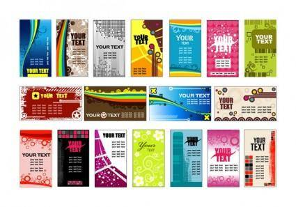 free vector Variety of background card template vector