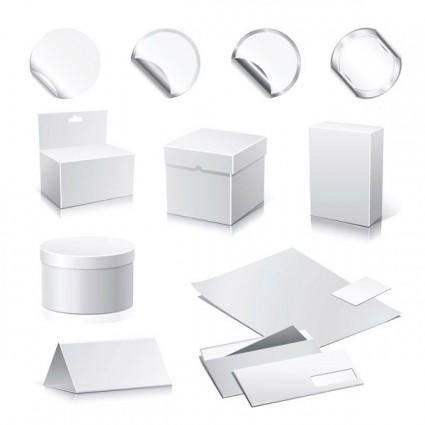 free vector Blank box vector 2