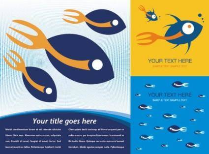 Fish theme vector background