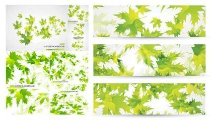 free vector Green leaves background vector