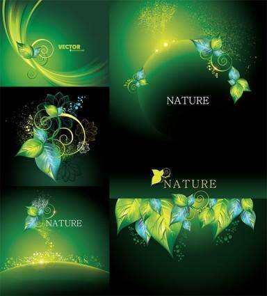 Dynamic vector green background