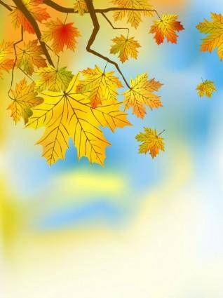 Beautiful maple leaf background 03 vector