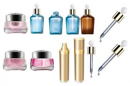 free vector Cosmetics bottles vector