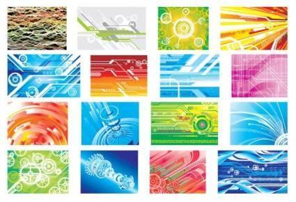 free vector Hightech digital background pattern vector