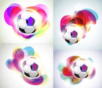 free vector Football background with the symphony of the trend vector