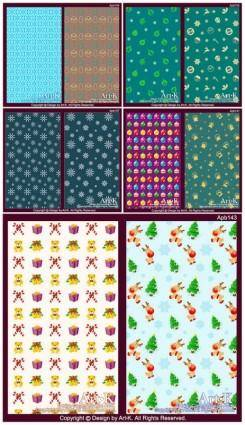 free vector 10 lovely christmas element vector base map case background
