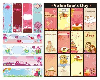 free vector Background vector cute valentine day