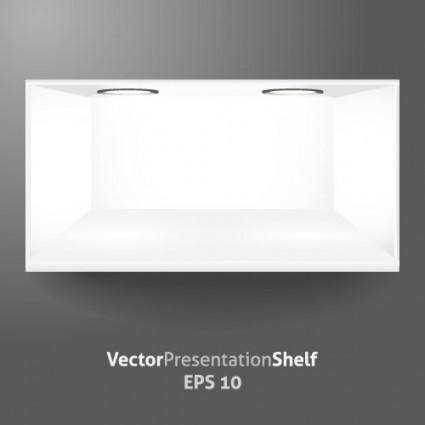 Showcase white vector
