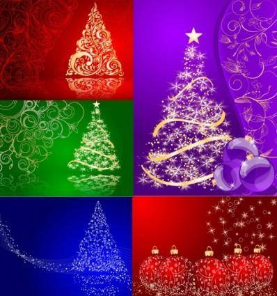 free vector 5 christmas vector background
