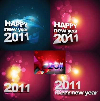 free vector Happy new year 2011 background vector