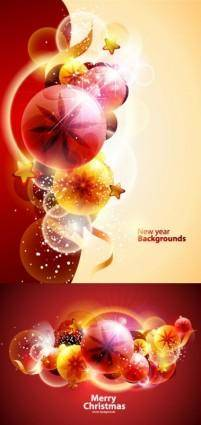 free vector Cool christmas symphony of light vector background 3