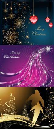 free vector 3 christmas vector background
