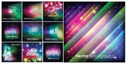 free vector Colorful christmas vector background