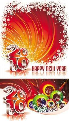 2010 new year background vector