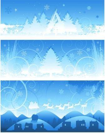 Christmas snow background vector
