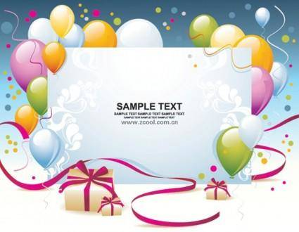 Balloon gift card background vector