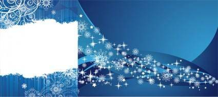 2 blue snowflake background vector