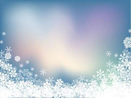 Background vector snow symphony