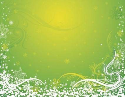 free vector Snowflake background pattern vector