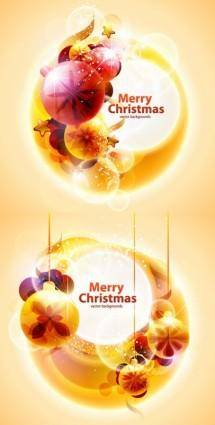 free vector Cool christmas symphony of light vector background 2