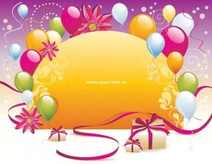 free vector Balloon gift card background vector