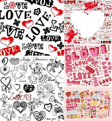 Super cute valentine day background vector