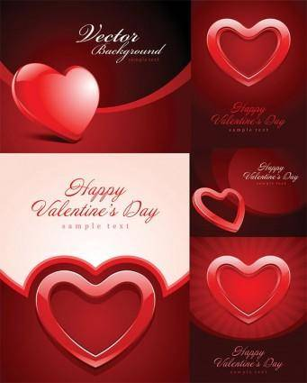 free vector Valentine day heartshaped texture vector background