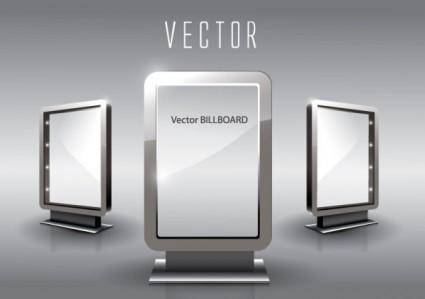 free vector Fine glass advertising boxes 05 vector