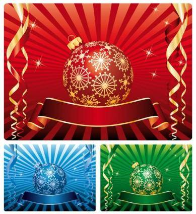 free vector Christmas decoration background vector