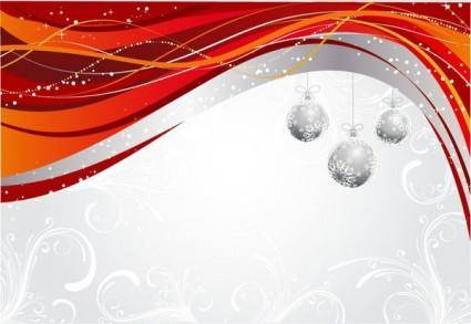 Christmas ball hanging dynamic background pattern vector