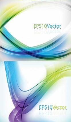 free vector Vector dynamic background brilliant lines b
