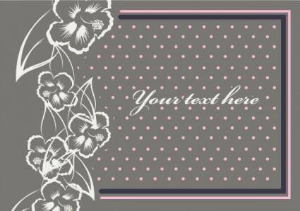 free vector Beautiful border pattern background 09 vector