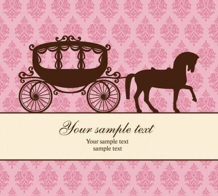 Carriage and the trend pattern vector background