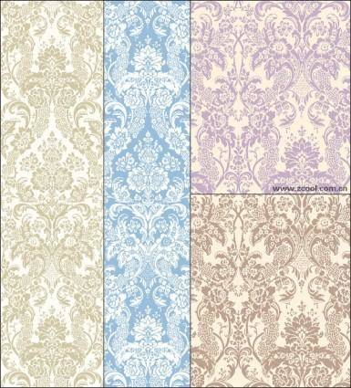 free vector Classical elegant background pattern vector