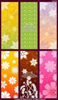 free vector 6 lovely shades of the background pattern vector