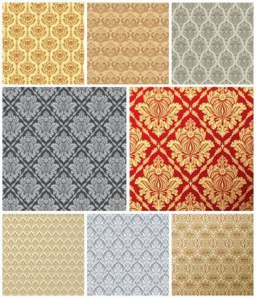 free vector European tile pattern background vector 1