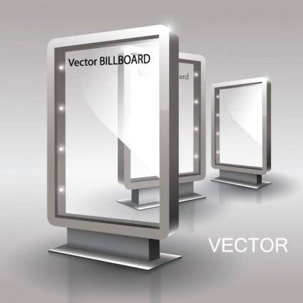 Fine glass advertising boxes 02 vector